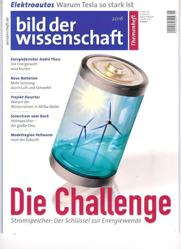 Energiespeicher-Sonderheft von bild der wissenschaft