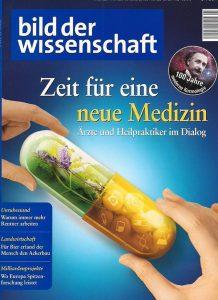 Cover der Ausgabe von bild der wissenschaft, in der Artikel über Forschung an neuromorphen Computern erschienen ist