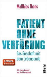 """Cover des Buches """"Patient ohne Verfügung"""""""