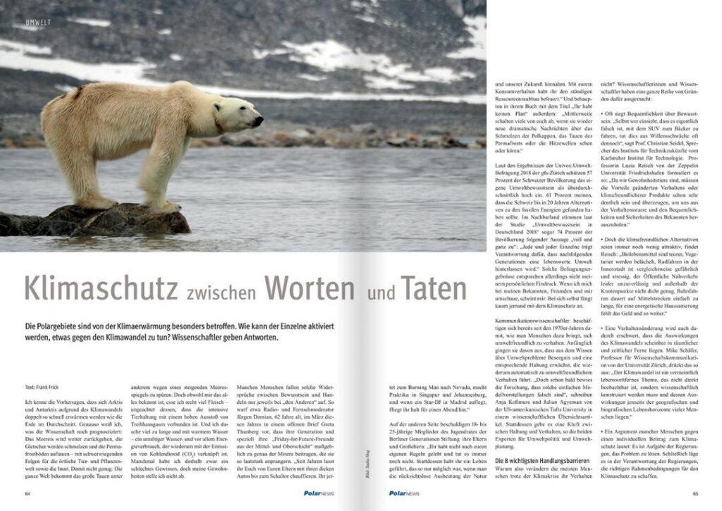 """Blick auf Artikel """"Klimaschutz zwischen Worten und Taten"""" des Wissenschafsredakteurs Dr. Frank Frick"""
