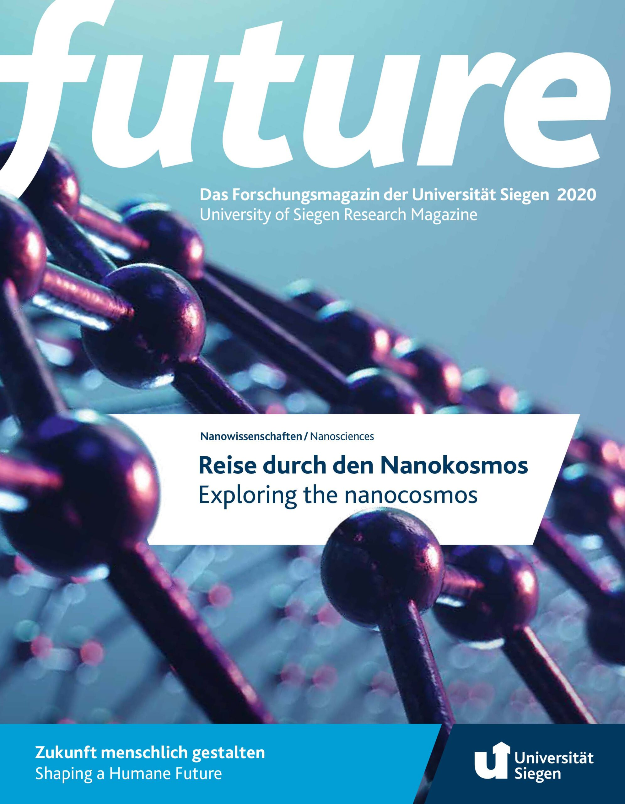Blick auf den Titel des Forschungsmagazins future